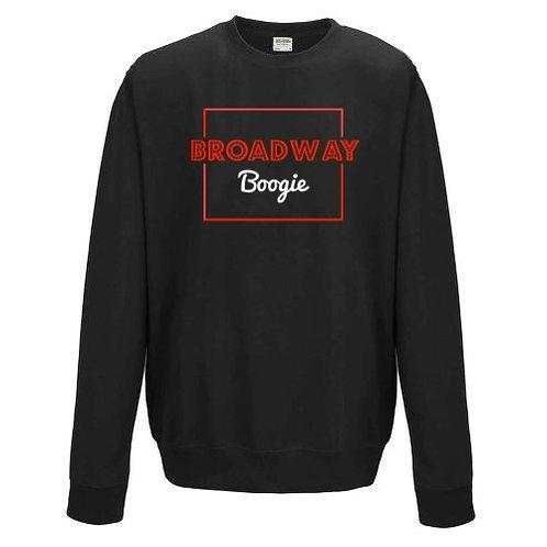 Black Broadway Boogie Glitter Logo Sweatshirt