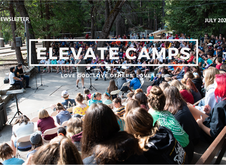 Elevate News for July (front page)