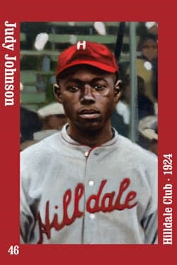 This is an image of a Judy Johnson Baseball Card magnet.