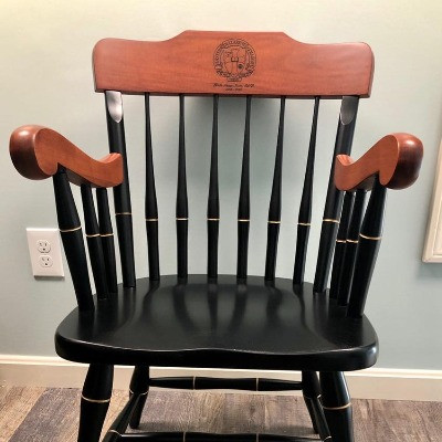 This is an ornamental chair given to my mother in recognition of her years of service.