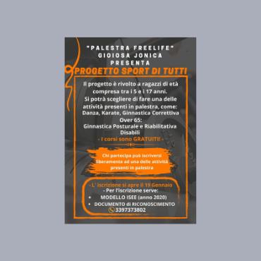 Grafica Volantino per Palestra Freelife