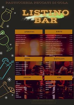 Grafica Listino Bar Da Esposizione Per P