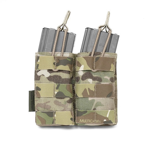 Double MOLLE Open 5.56mm Mag/Bungee Retention - 2 Mags MultiCam