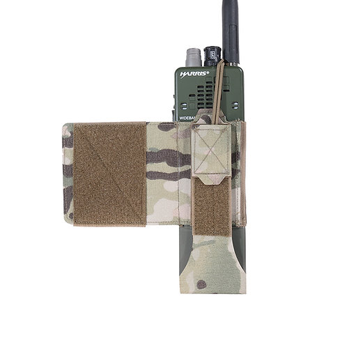 Warrior Laser Cut Wing Velcro MBITR/Harris Radio Pouch (Left Side) MultiCam