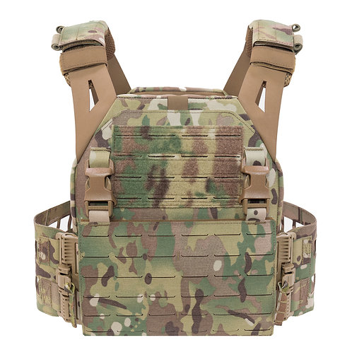 Warrior Laser Cut Low Profile Carrier with Medium Ladder Sides Multicam