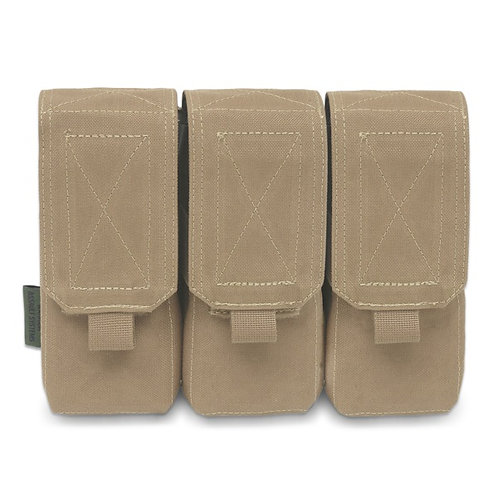 Triple M4 5.56mm Mag Pouch/Non Slip Retention - 6 Mags Coyote Tan