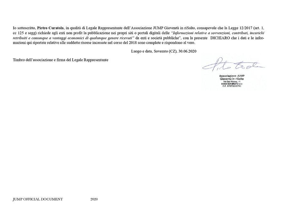 Dichiarazione Trasparenza_JUMP_anno2020_