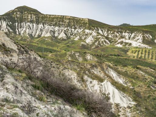 """""""Calanchi"""" landforms -Guardavalle, Calabria, Italy"""