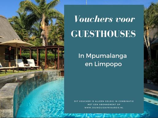 Vouchers - Guesthouses Mpumalanga en Limpopo