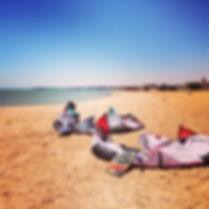egypte, el gouna, kitesurfen, kitespot beach