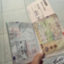 paspoort, traver, backpacken