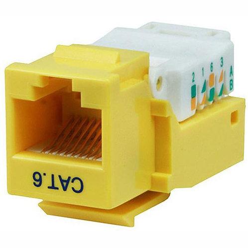 Cat6 Tool-less Keystone Jack - Yellow