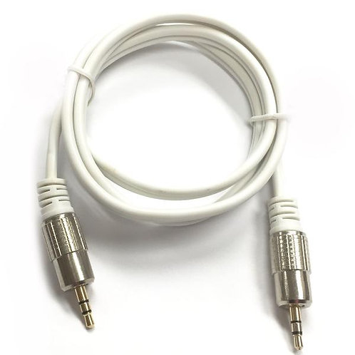 1 ft 3.5mm Stereo Cable - White - M/M