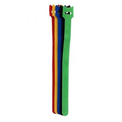 9 inch Velcro Cable Ties Pack of 6 - Multicolour