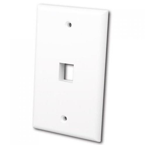 Flush Wallplate for Single Keystone Jack - Bright White