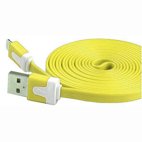 6 Ft - Iphone Cable Flat Yellow