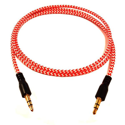 3 ft Stereo Cable Braided Orange - M/M