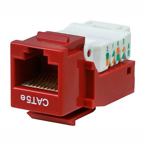 Cat5e Tool-less Keystone Jack - Red