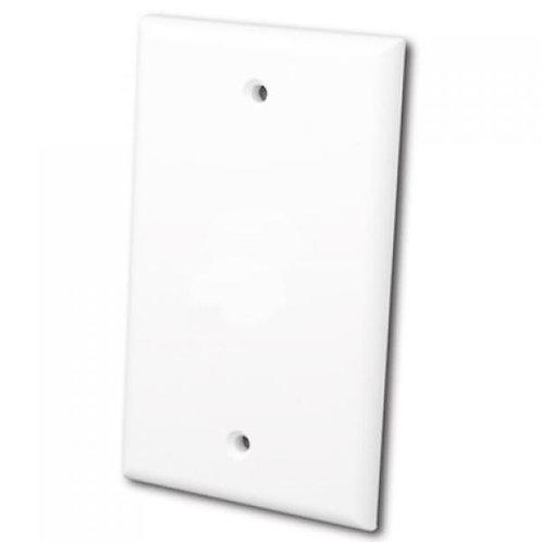 Blank Flush Wallplate - Bright White