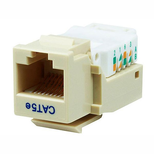 Cat5e Tool-less Keystone Jack - Ivory