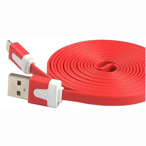 6 Ft - Iphone Cable Flat Red