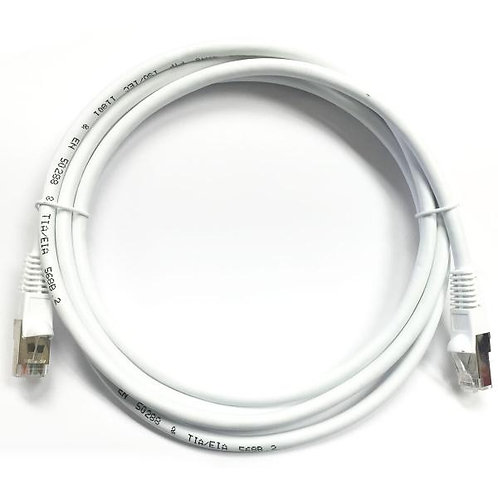7 ft Cat5e (350 Mhz) STP Network Cable - White