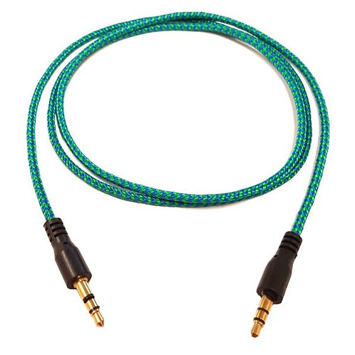 3 ft Stereo Cable Braided Green - M/M