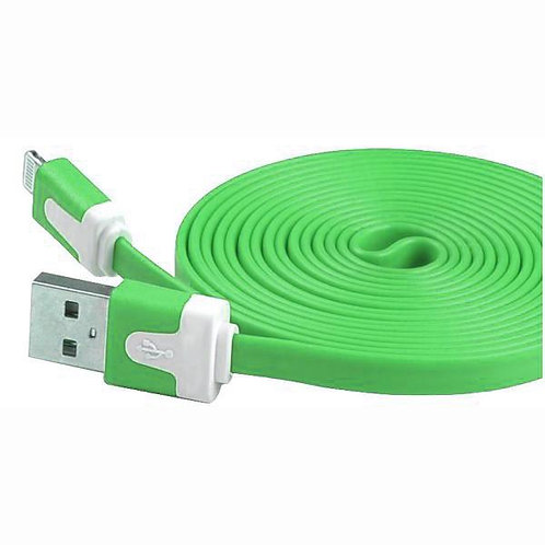 6 Ft - Iphone Cable Flat Green