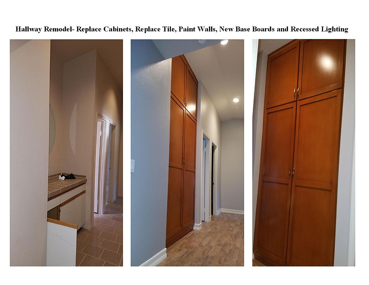 Hallway Remodel with New Cabinets - Champion Construction Company