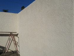 Wall with Stucco