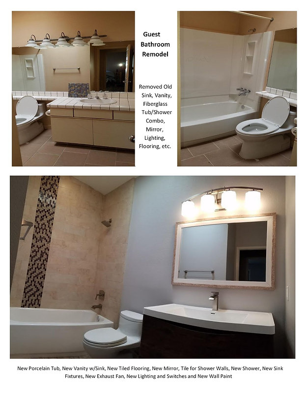Before and After Guest Bathroom Remodel - Champion Construction Company