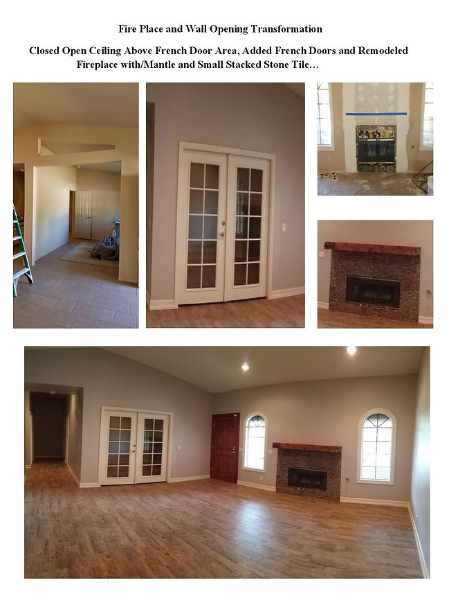 Before and After Living Room Remodel - Champion Construction Company