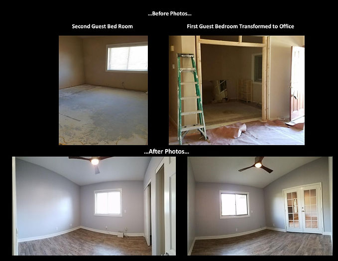 Before and After Bedroom Remodel - Champion Construction Company