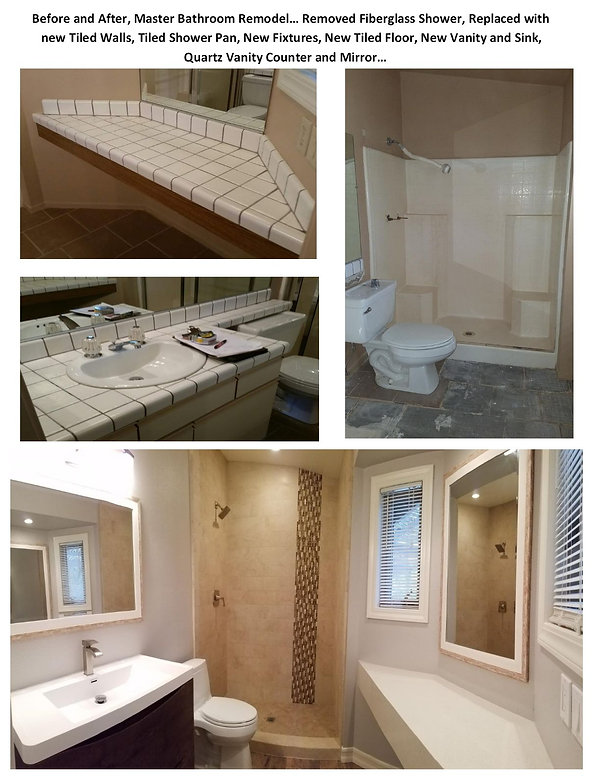 Before ad After Bathroom Remodel - Champion Construction Company