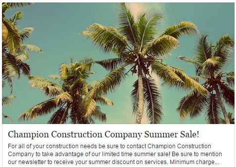 Champion Construction Company Summer Sale.JPG