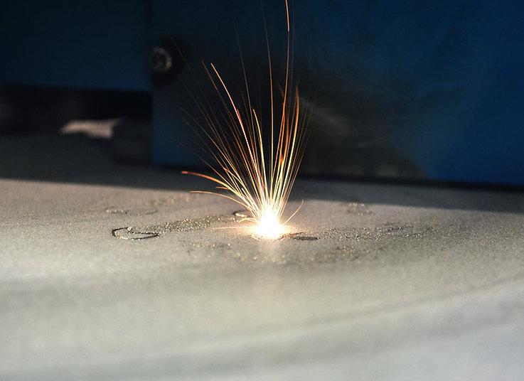 3D printer printing metal. Laser sinteri
