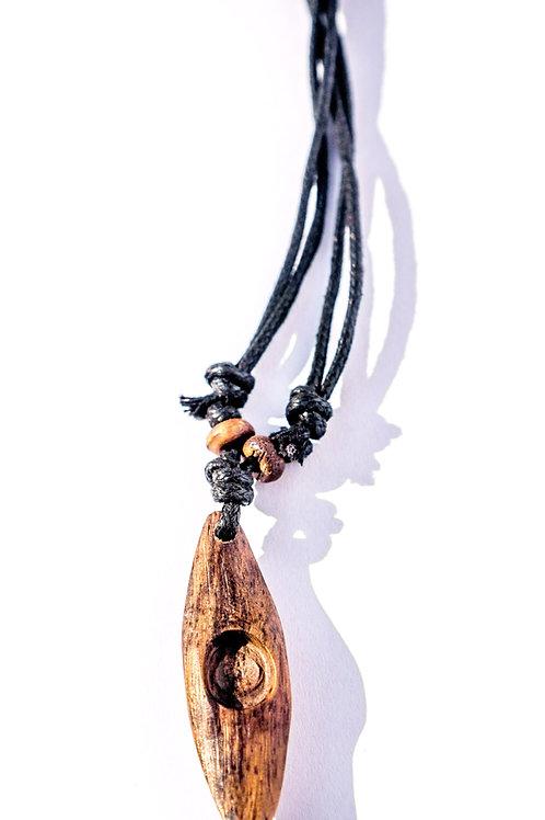 Hand carved Kayak Necklace