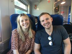C. Joy & Ed on the Train