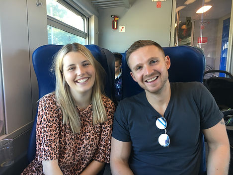 C. Joy & Ed on the Train.JPG