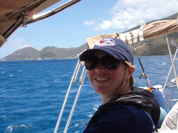 Claire enjoying the sailing