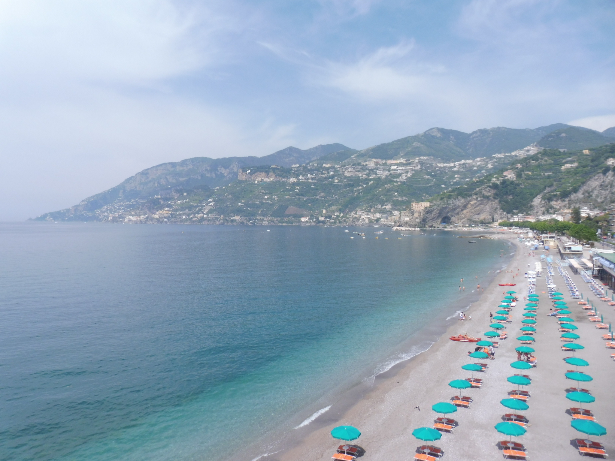 Beautiful beaches on Amalfi