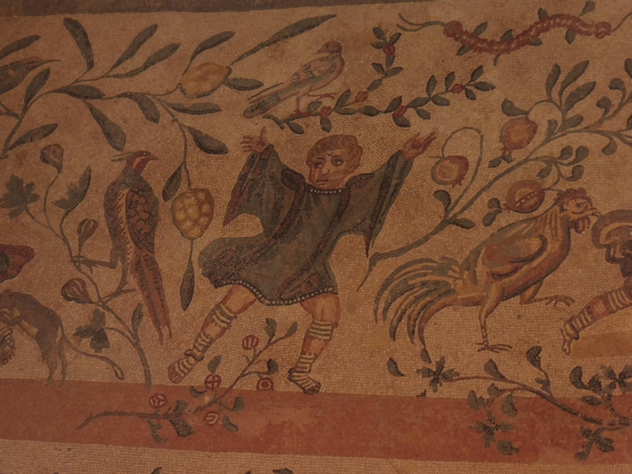 Mosaic floor patterns