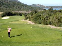 Graeme playing golf
