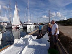 Washing the sails