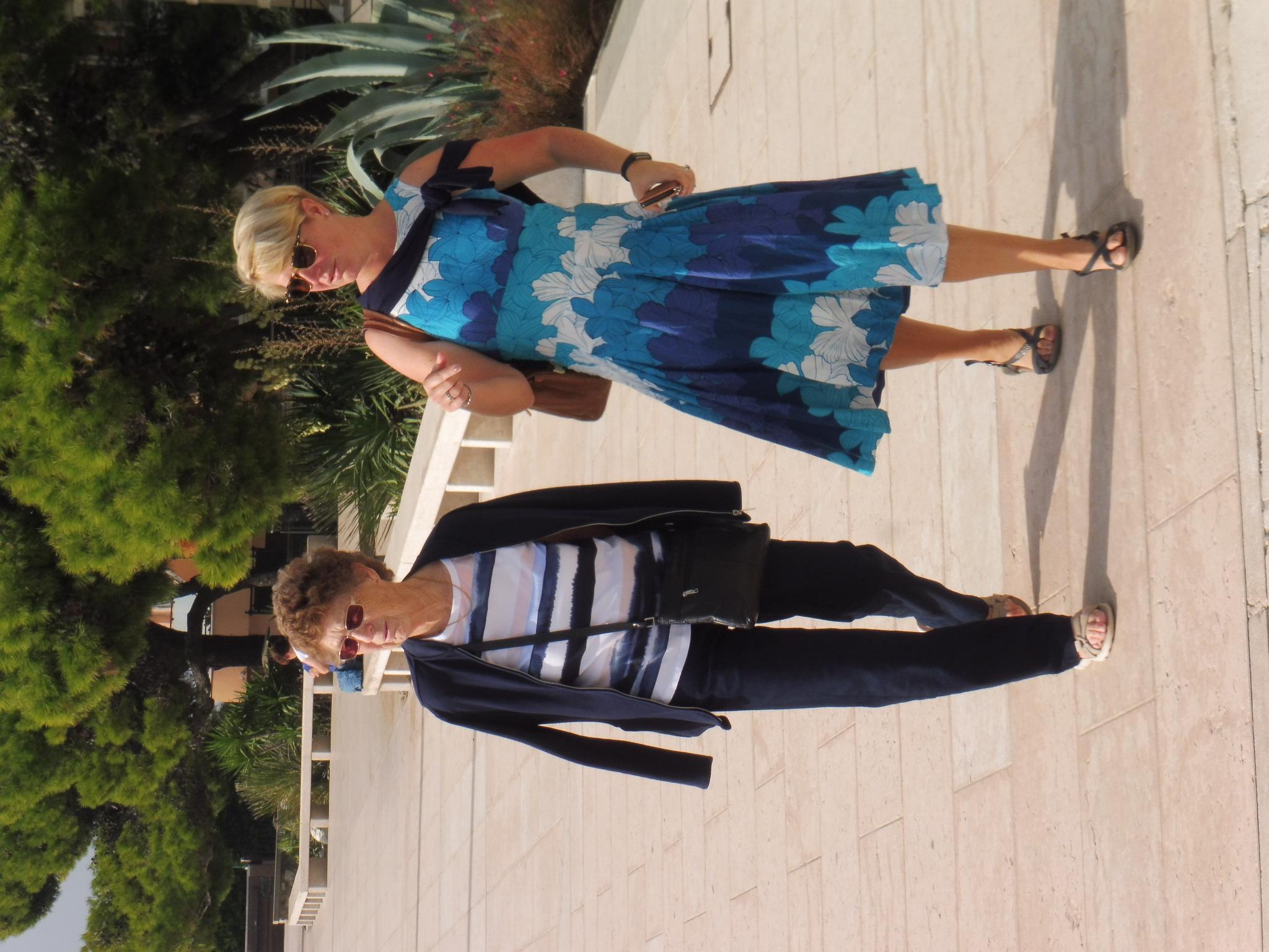 E. Walking along the prom