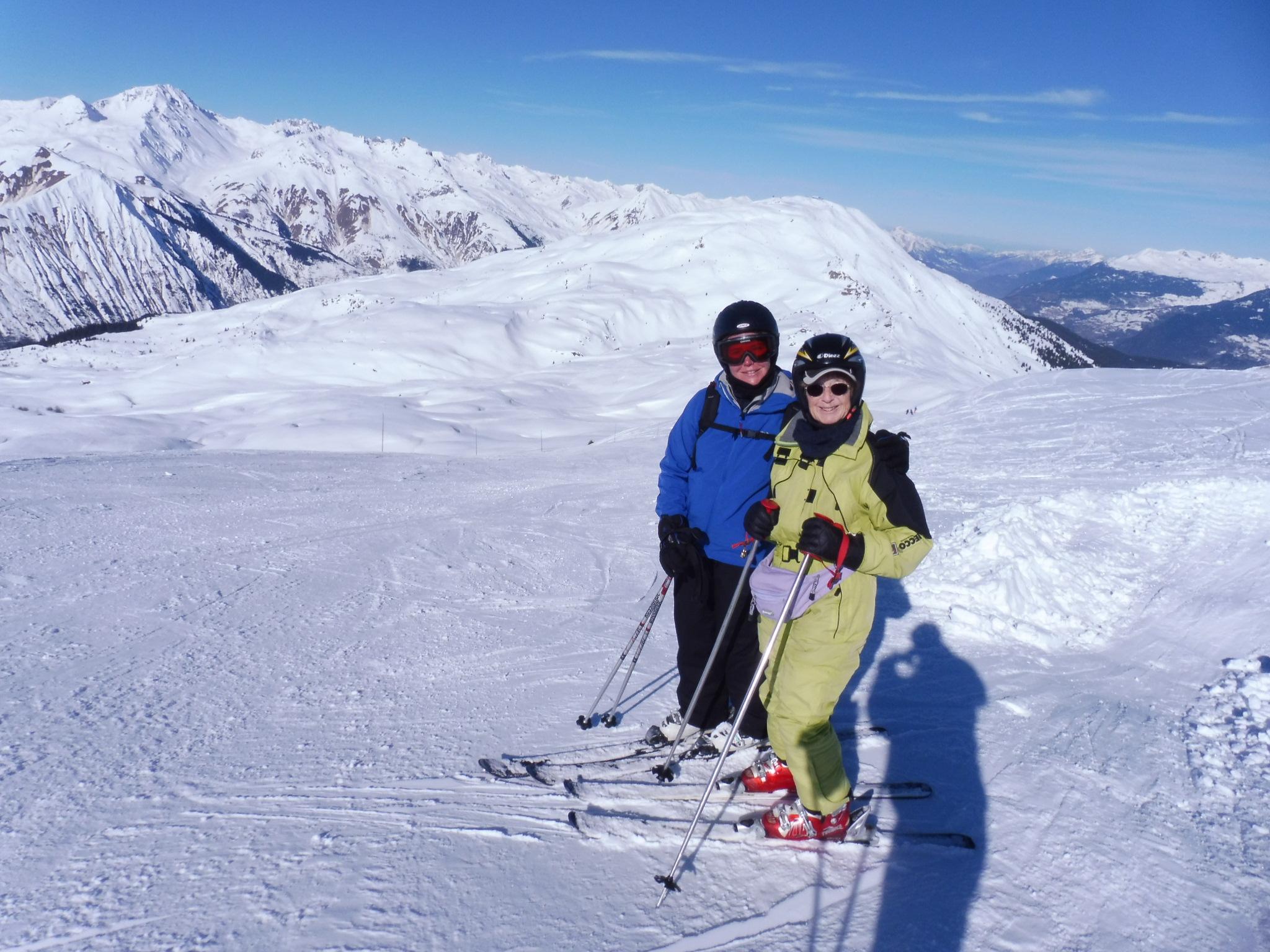 Skiing with mum