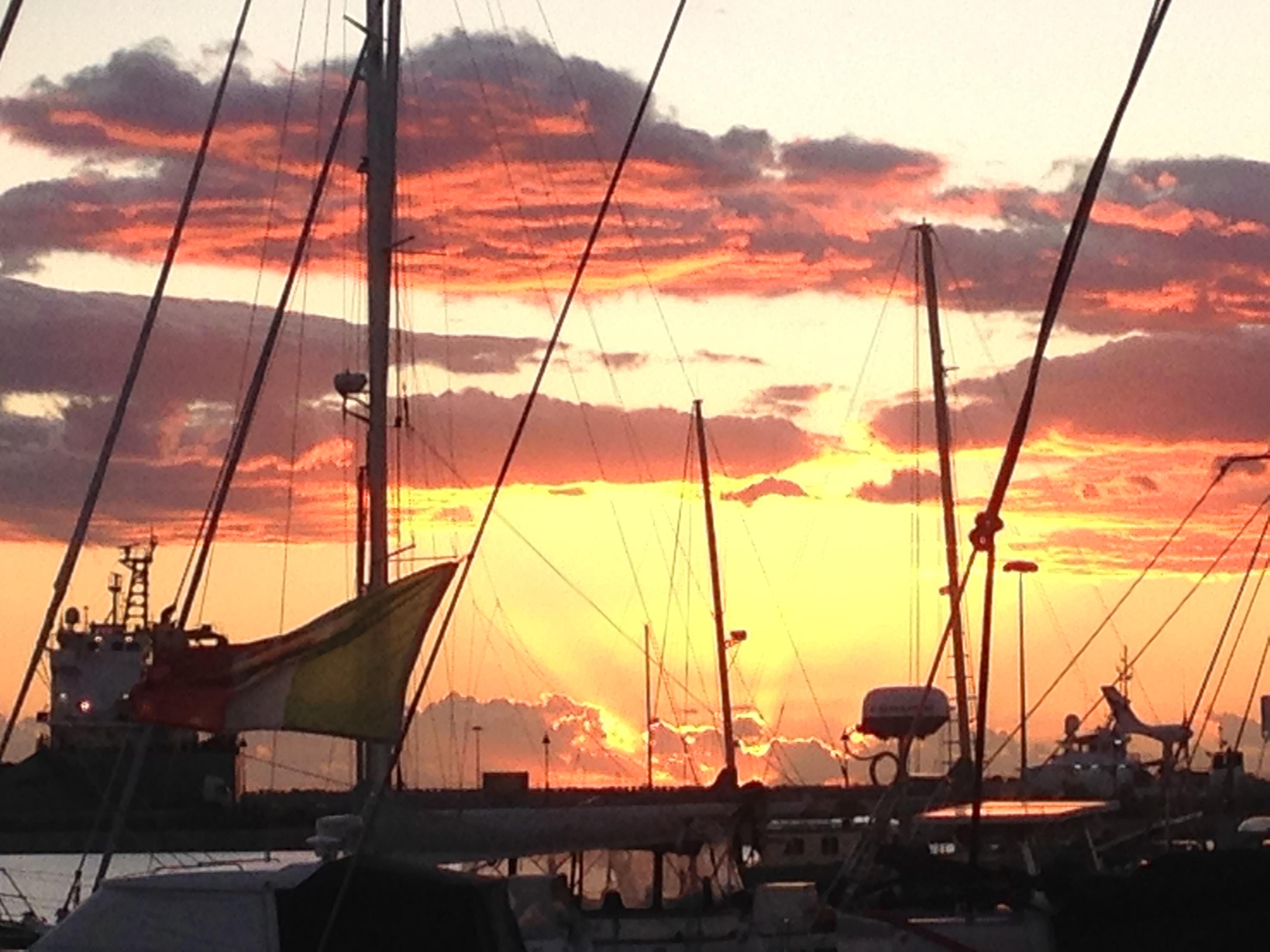 Sun set in Licata