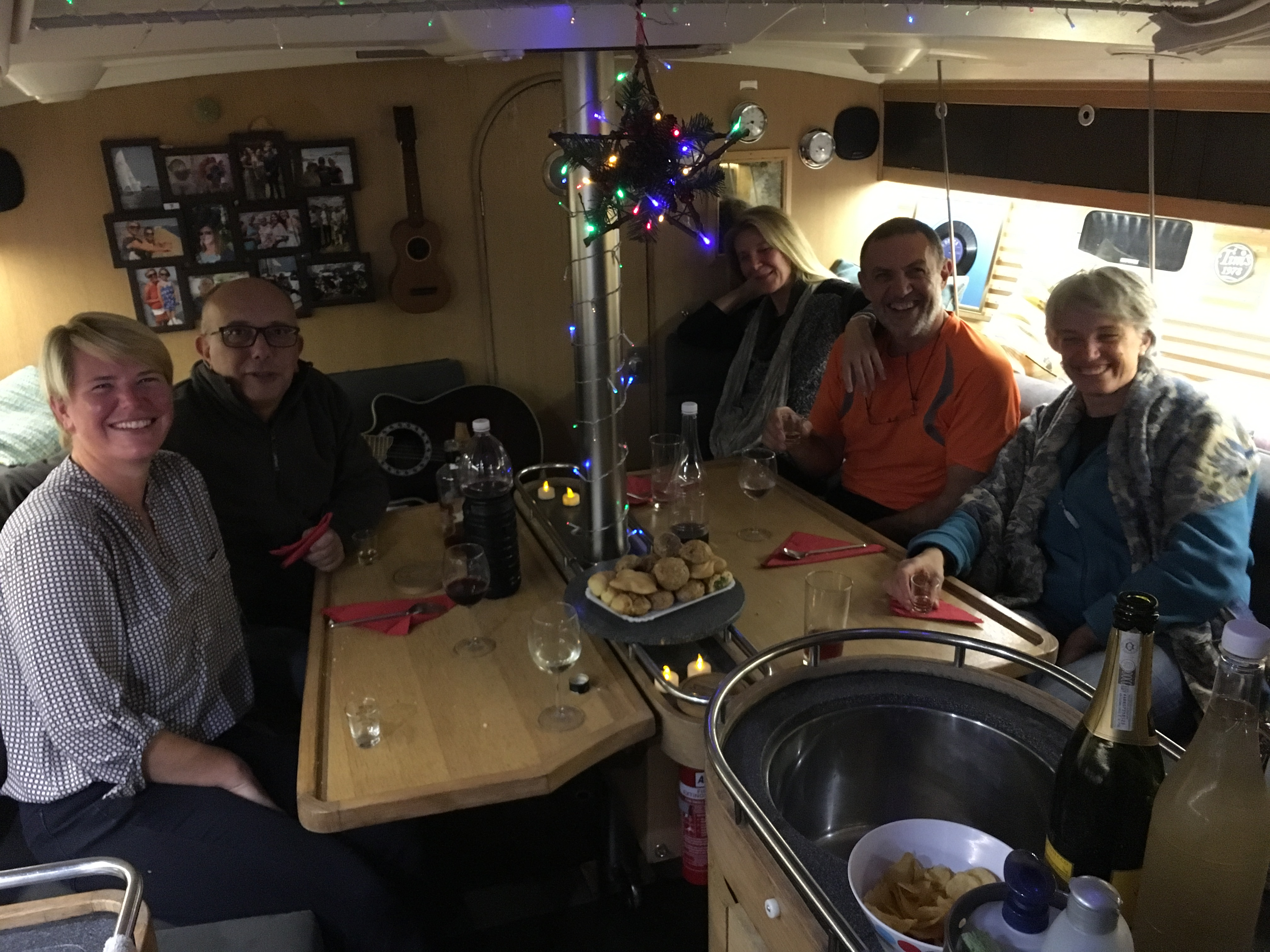 Friends on board Red Rooster