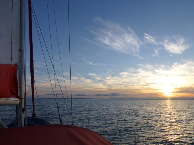 Lyme Bay as the sun sets 3.JPG