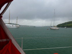 Salcombe - Sitting out the weather.JPG